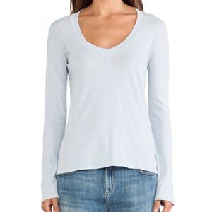 James Perse light blue relaxed v neck shirt!